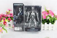 "Free Shipping NECA Terminator 2 Judgment Day T-800 Endoskeleton PVC Action Figure Robot Toys 7"" 18CM"