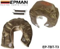 Free shipping -(H Q) EPMAN RACING - Universal Titanium T3 Turbo Heat Shield Blanket - Race Rally Drag Drift EP-TBT-T3