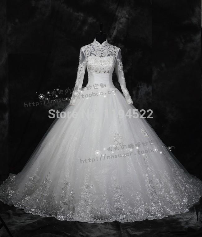 Online Get Cheap Beautiful Muslim Wedding Dress Aliexpress