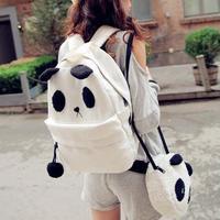 ANGEL ! new Women patchwork Backpacks laptop panda printing school bags Backpack Women's travel Bags FF696