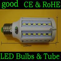 360 degree Super bright 60pcs SMD5630/5730 15W LED Bulb E27 B22 E14 2400lm Corn light 110V/220V Warm White 1 pcs  FREE SHIPPING