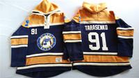Old Time Hockey Hoodies Jersey St. Louis Blues 91# Vladimir Tarasenko Dark Blue stitched Hoodies Jersey