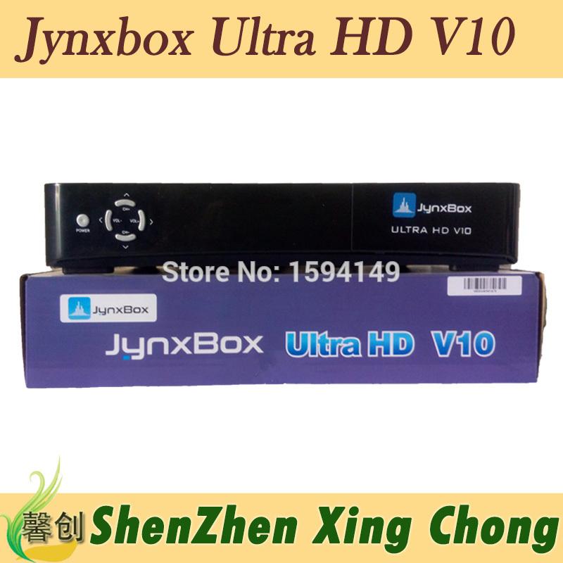 10pcs JynxBox Ultra HD V10 fta hd receiver jynxbox v10 north america satellite receivers(China (Mainland))