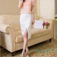 Female Cross Irregular Skirts Slim Package Hip Skirts Women Elegant Temperament Skirts Free Shipping