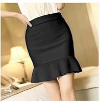 New Arrival Women Short Skirt Fashion Slim Hip Black Mermaid Skirt High Waist Elastic Skirts