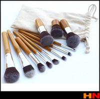 11Pcs Wood Handle Makeup Cosmetic Eyeshadow Foundation Concealer Brush Set brushes T1103