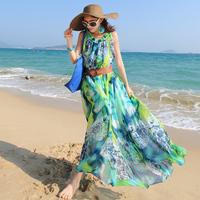 2015 Real Sale Vestidos Femininos Tropical Vestidos Free Shipping Party Dresses Bohemia Dress Chiffon One-piece Beach Plus Size