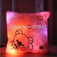 LED Light Plush cushion Battery Powered Decorative Flashing square Cushion Pillow soft home plush pillow gifts for boys girls