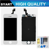 No dead pixel!!!!!! Black and White Color LCD Display Touch Screen Digitizer+ LCD + Frame LCD Assembly For iPhone 5gs 5s