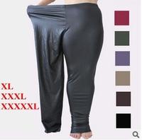 2015 New Spring and Autumn king size 5XL 90Kg Women leggings Winter Plus Velvet Imitation leather women's pants  free shipping