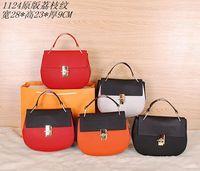 2014 women real cow leather Drewdesign large Shoulder Bag fashion messenger NO.1124