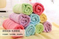 Promotion Hot sales 5pcs set 100% bamboo towel set face towels,hand towels.34x78cm five colors per set wedding gift home clean