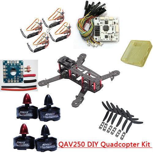 RC QAV250 DIY Quadcopter Multirotor Kit & Emax MT1806 Brushless Motor & Simonk 12A ESC & CC3D Carbon(China (Mainland))