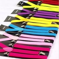 Hot Sale 2.5cm Wide 44inch Men/ Women Adjustable Y-Back Elastic Braces Suspenders