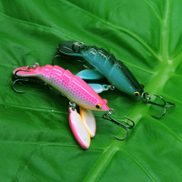 Wholesale 10 PIECES7g 60mm high -quality water system cicadas type of bait / lure / bait lures multicolor optionalFree shipping