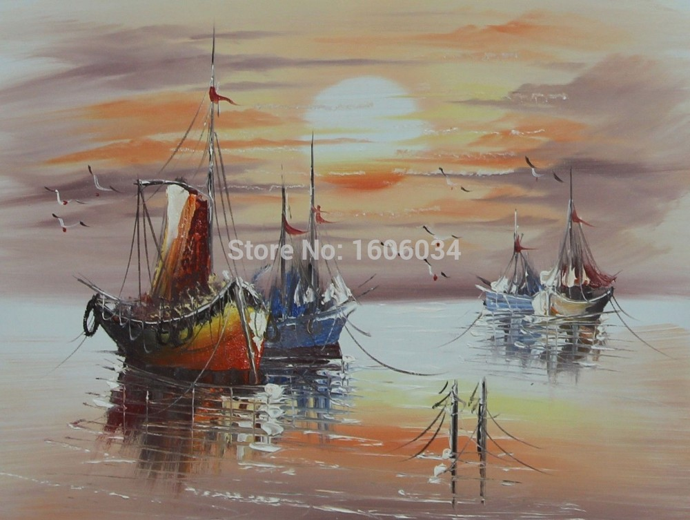 Sailing Boat Cartoon Sailing Ship Boat Sunset