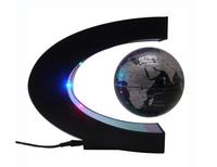 2pcs HIGH TASTE C shape Decoration Magnetic Levitation Floating World Map Globe LED Light WELL PACKED