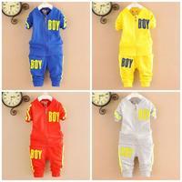 4set/lot boys sets baby 2015 spring kids sets sports children suits factory 754