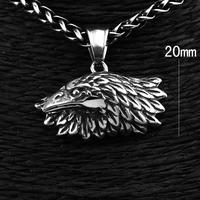 316L Stainless Steel Men's Rocker Biker Owl Pendant Necklace Chain Silver p3045