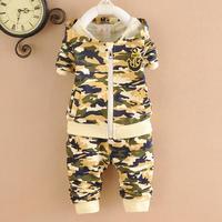 4set/lot boys sets camouflage 2015 baby sets hoodies+pants kids suits children clothes 756
