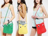 AC637 cute sweet cartoon solid zipper Messenger Bags Cross Body sling bag  9.7'' ebook tablet bag for ipad red blue green
