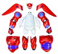 Free Shipping 16cm Transform Assemble Big Hero 6 Baymax PVC Action Figure Toy Fat Balloon Man Doll Transformations Robot Toys