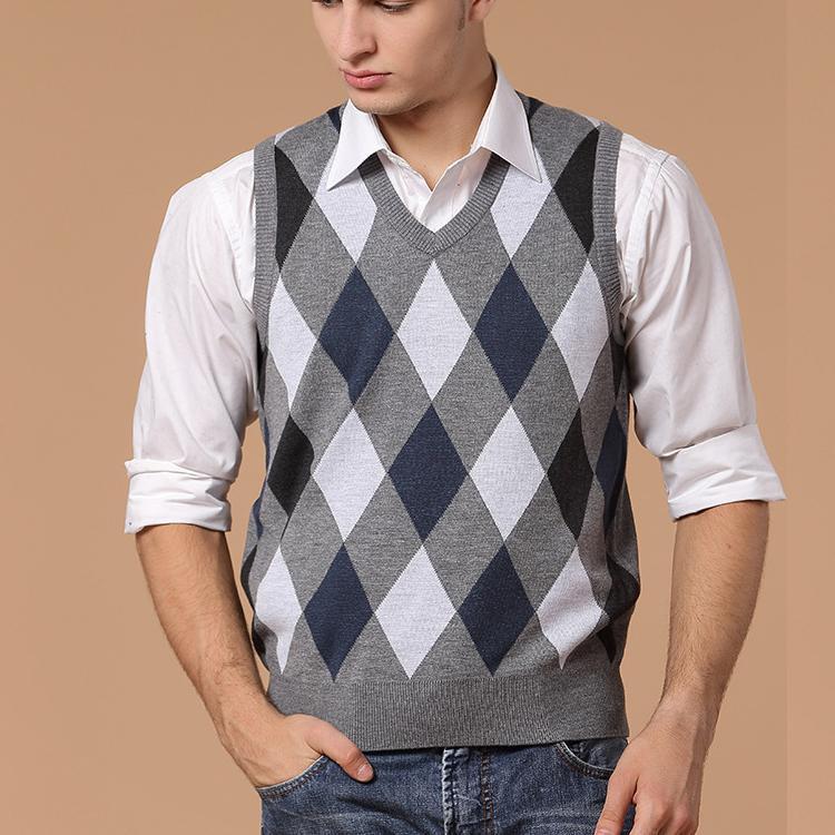 Knitting Pattern For Mens Cardigan Vest : Online Get Cheap Men Sweater Vest Knitting Pattern -Aliexpress.com Alibaba ...