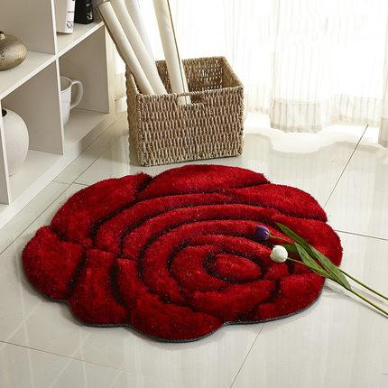 Korean Floor Table 3d Stereo Roses Carpet Living Room Coffee Table Mat Sofa Bed Bedroom Floor