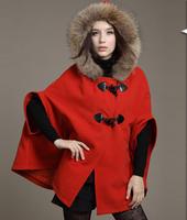 Autumn Winter coat Women Tops Outerwear 2015 New Arrival Fashion Cape coat  jacket