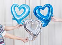 "18"" Classic Heart Shape Wedding Happy Birthday Party Elegant Heart Foil Balloon PS PS Free Shipping"