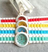 DHL FREE SHIPPING 100pcs/lot 2014 Fashion GENEVA Silicone Quartz Unisex Jelly Wristwatch,women dress watches