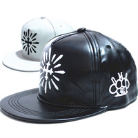 2015 new brand pu leather embroidered hih hop hat   baseball caps  snapback hats for men women bone Casual sport cap