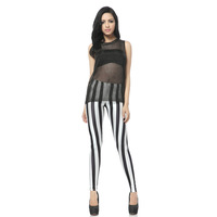2015 Leggings Push Up Gym Clothes Women Leggings        black striped    DK073 Fitness Clothing For Women Ropa Punk Mujer Print