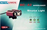 Free Shipping!Nitenumen BC-A2 Cree XML-L2/R5 1100Lums Waterproof Bike Torch LED flashlight  Bicycle Light