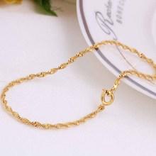 Wholesale 2015 18K Gold Plated Twisted Chain Fine Bracelet Jewelry Girl Boys Women Men Pulseras Hombre SBR140169(China (Mainland))