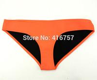 The orange neoprene swimwear swimsuit only the bottom