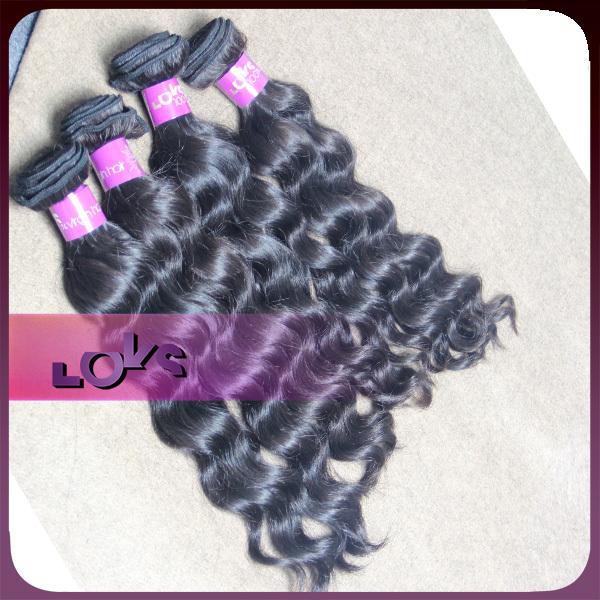 6A Loose Wave Raw Human Hair Weave 4pcs/lot Virgin Natural Chinese Hair Weaving No Tangle for Years No Shedding(China (Mainland))
