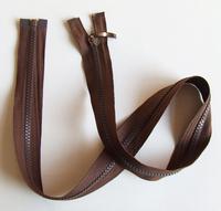 Brown color 76.5cm resin teeth garment single head zipper 20pcs Free shipping