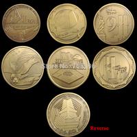 Set of September 11 ,2001 , 6 different design 1 oz The Pentagon 911 we remember Challenge COINS set