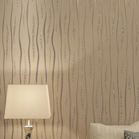 Brilliant  Elegant  Non-woven Fabric Wallpaper Roll 10m Art Background Design  3D papel de parede Living Room