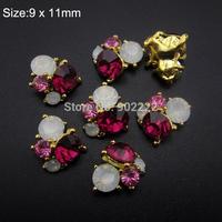 10pcs Crystal strass  nail art rhinestones for nail tips decoration 3d  nail charms AM359