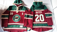 Old Time Hockey Hoodies Jersey Minnesota Wild 20# Ryan Suter Red stitched Hoodies Jersey