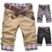 Новый 2015 мужской модной одежды отбортовки культивировать в морали шорты / высокое качество хлопка Шорты мужские летние прямой