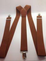 2.5cm Wide 44inch Men/ Women Adjustable Y-Back Elastic Braces Suspenders