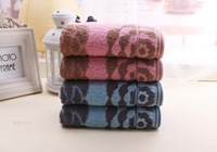 Big Rose Face Towel 2piece set 37x48cm 100% Cotton blue and pink color wedding gift,bathroom products hand towels set