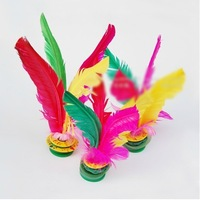 10pcs Colorful Kick Shuttlecock Chinese Jianzi Exercises Exterior Sport Game Suitable For Every Body