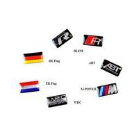 10pcs/lot automobile car brands rline sline m-power abt wrc flags logo emblem badge decals mini-stickers for decoration