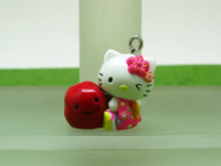 10 pieces Hello Kitty with Red Beans Charm Pendant Cute Fashion Gifts ALK454 Wholesale