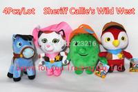 Free Shipping. 4pcs/lot 20CM Sheriff Callie's Wild West Fashion Plush Toy Girls Toys & Hobbies Cartoon Cat & Horse