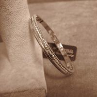 New Fashion Elegant Women Bangle Wristband Bracelet Crystal Cuff Bling Lady Gift Bracelets & Bangles Famouse Brand Bangles
